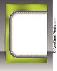 Abstract brochure with two lane road