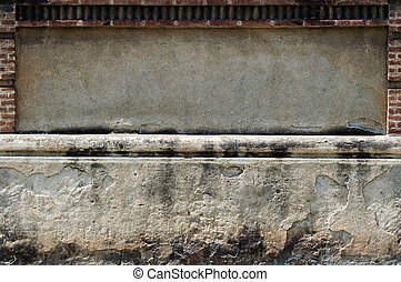 Advertising space - An empty ad space of stone and concrete...