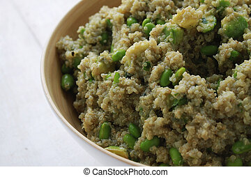 quinoa salad with soya bean - quinoa soya bean salad in bowl