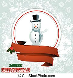 Christmas border with snowman - White Christmas Border with...