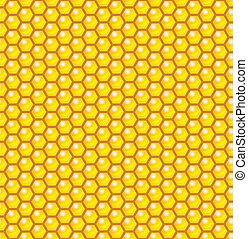 Honeycomb Seamless Pattern Vector Illustration