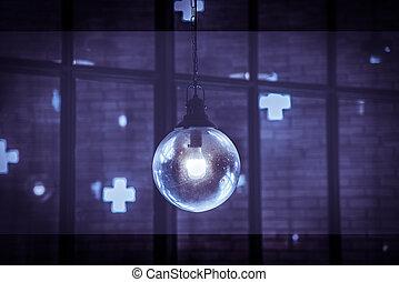 Old vintage lamp - Old dirty vintage lamp with dark purple...
