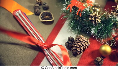 Unleashing a bow or a gift - Preparing for Christmas , a...