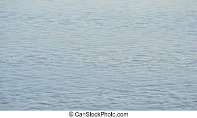 Calm blue water surface with waves - Natural calm blue water...