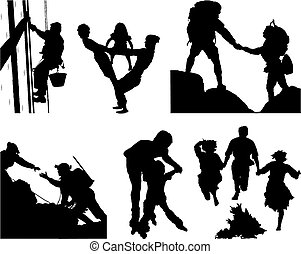 Set of silhouettes - The file contains 6 silhouettes about a...