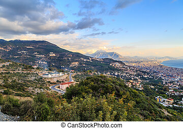 Day View of Alanya Castle - Day view of peninsula in...