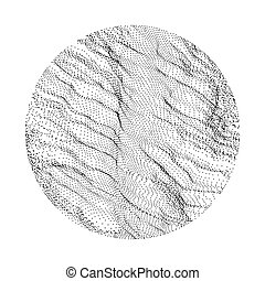 Grid Background. 3d Abstract Vector Illustration.