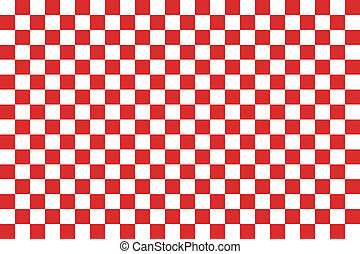 Red seamless pattern chessboard - Red and white chessboard...