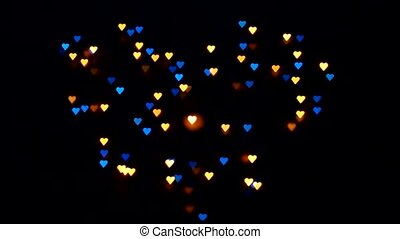 Flashing hearts on Valentines Day