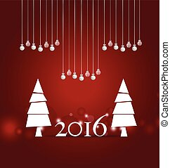 2016 Happy New Year background Vector illustration