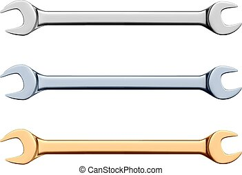 Open-end wrench - RGB vector illustration - created with...
