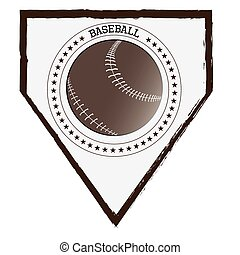 Baseball - Isolated baseball emblem with and text