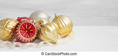 Festive Christmas Globes with Ribbon