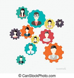 Modern Business Concept, The idea of teamwork and success