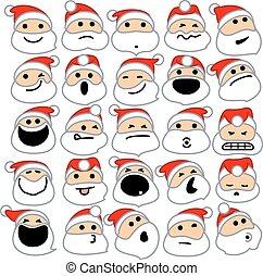 Santa Claus Emoticons