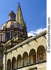 Guadalajara Cathedral in Jalisco, Mexico - View of the...