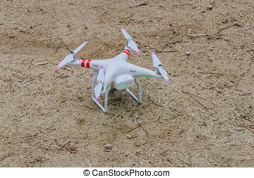Drone on the ground