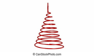 Christmas tree - Stylized Christmas tree spin on white...