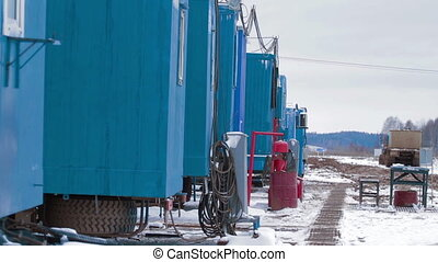 Mobile houses of drilling crew