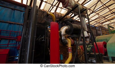 Drilling mud pump station indoor