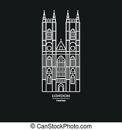 Westminster Abbey Icon 1 - Vector Illustration of...