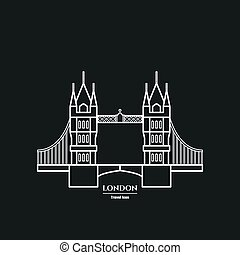 Tower bridge Icon - Vector Illustration of Tower bridge Icon...