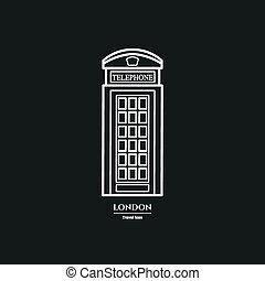 phone booth Icon 1 - Vector Illustration of phone booth Icon...