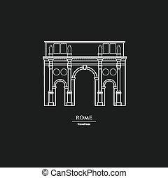 Rome Landmark Outline  1