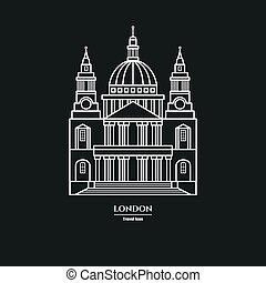 St Paul's Cathedral Icon 1 - Vector Illustration of St...
