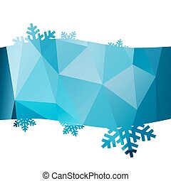 Abstract winter background with sno