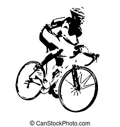 Cycling silhouette. Bicycle rider vector