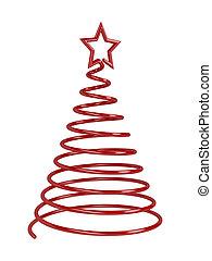 Christmas tree - Stylized Christmas tree on white background