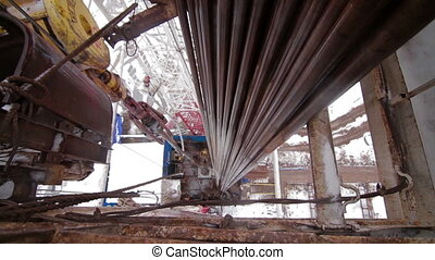 Drilling of oil well Kind from a top of rig - Drilling of...