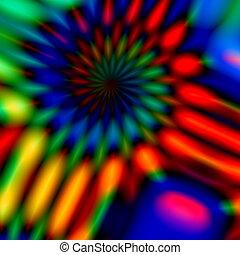 Colorful blurry spiral - Full frame design Strange crazy...