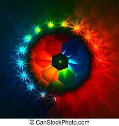 Weird colorful hexagons.