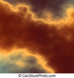 Dramatic dark cloud - Open air imagery Warm color tones Odd...