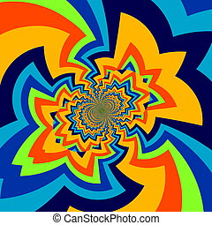 Infinite abstract art illustration. - Pic of big bang. Full...