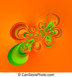 Digitally generated image. - Liquid splash deco. Weird...
