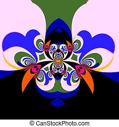 Beautiful abstract fractal - Creative modern poster art...