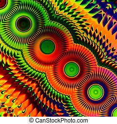 Colorful abstract art illustration - Loony image design...