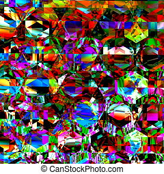 Very bizarre and chaotic clutter - Modern abstract art Dirty...