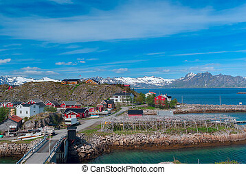 Norwegian village on island Skrova