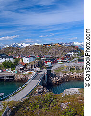 Norwegian village on the island Skrova