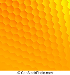 Abstract yellow background. - Cool hexagon grid. Blank space...