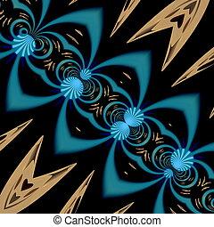 Unique psychedelic shapes artwork.