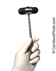 reflex hammer - Medical doctor with a reflex hammer on a...