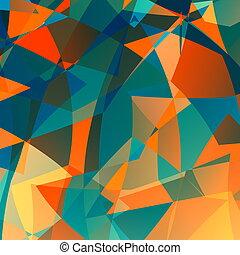 Orange blue poly background.