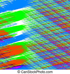Abstract paint smears. - Modern digital art. Image in full...