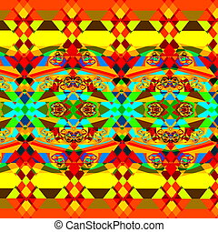 Colorful psychedelic pattern.