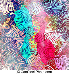 colorful abstract background - Beautiful a illustration of...